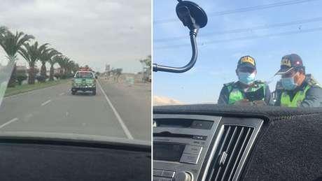 O carro da família foi parado mais de 30 vezes no Peru