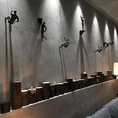 2. As esculturas de parede trazem descontração para o ambiente. Fonte: Pinterest