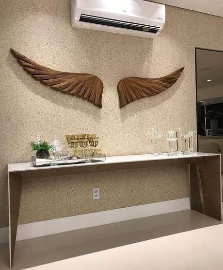 47. Dê asas a sua imaginação e use diferentes modelos de escultura de parede. Fonte: Leonardo Bueno