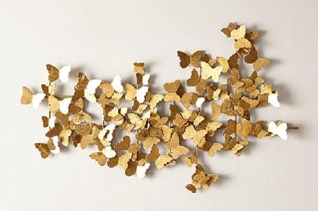 11. Escultura de parede metal formado com várias borboletas. Fonte: Pinterest