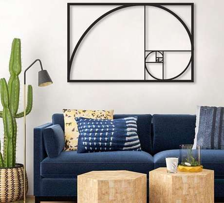 70. Escultura de parede abstrata para decoração minimalista. Fonte: Pinterest