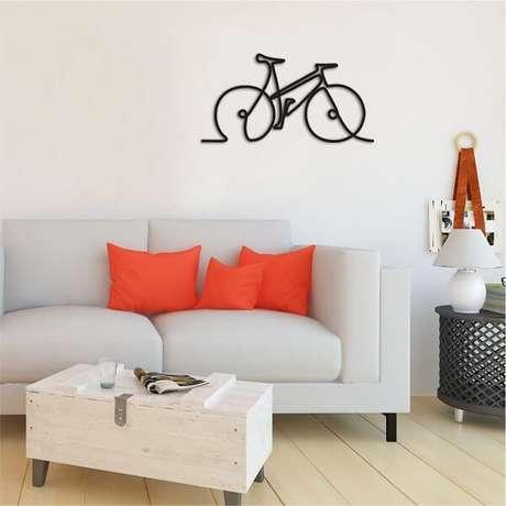 40. Modelo de escultura de parede discreta para decoração minimalista. Fonte: Pinterest