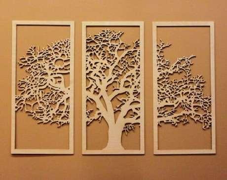 28. Modelo de escultura de parede em MDF com desenho de árvore. Fonte: Pinterest