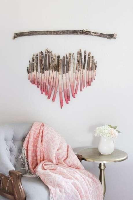18. Personalize sua Escultura de madeira para parede. Fonte: Pinterest