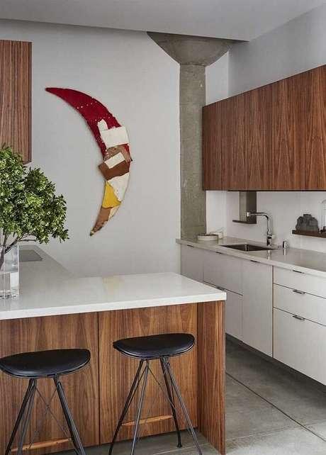 16. Tecidos e cores formam essa linda escultura de parede da cozinha. Fonte: Pinterest