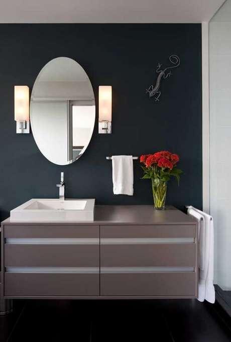 19. Traga descontração para o banheiro incluindo uma escultura de parede criativa. Fonte: Pinterest