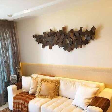 12. Traga um toque diferenciado para a decoração da sala de estar. Fonte: Josenias Freire