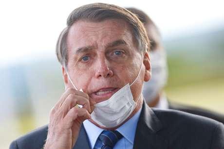 Presidente Jair Bolsonaro no Palácio da Alvorada 13/05/2020 REUTERS/Adriano Machado