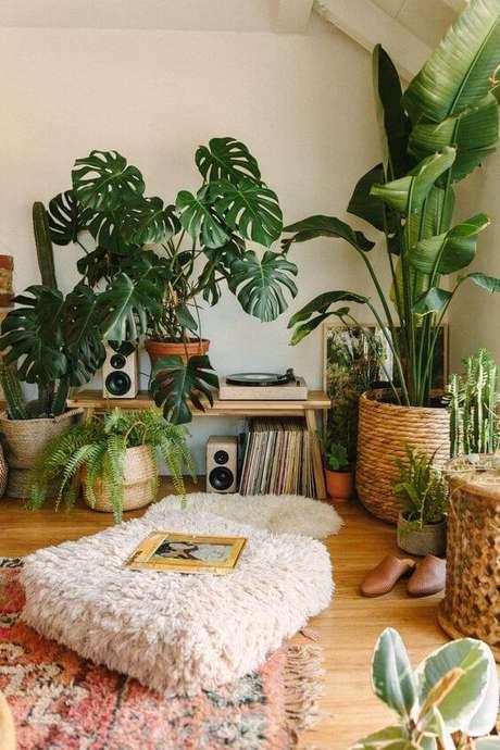 14. Casa decorada com vasos grandes para plantas – Via: Pinterest