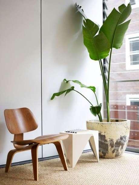 38. Vaso de planta grande próximo a janela – Via: Pinterest
