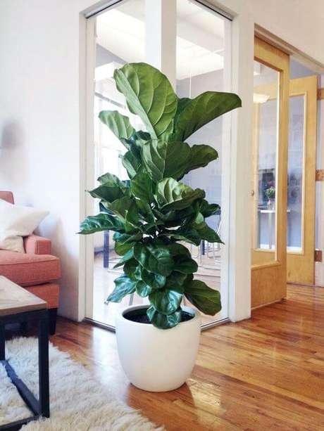 70. O vaso grande branco é lindo para decorar a sala de estar – Via: Theory of Place