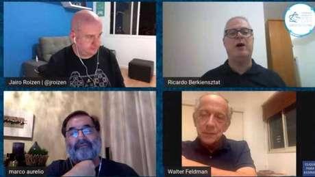 Dirigentes da CBF debateram situação do futebol em meio à pandemia do novo coronavírus (Reprodução)