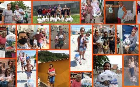Clubes aderiram à campanha contra a fome nas favelas (Foto: Divulgação / VivaRio/SOS Favela)