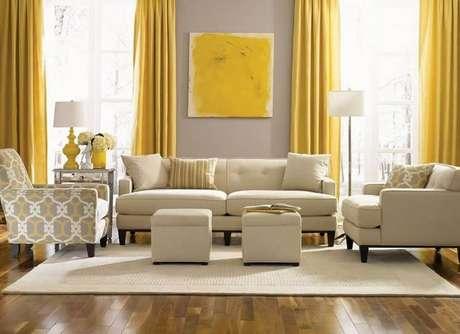 9. O amarelo traz mais luz e descontração para a casa cor creme – Foto: Pinterest