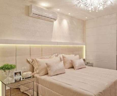 36. Decoração para quarto de casal na cor de creme – Foto: Pinterest