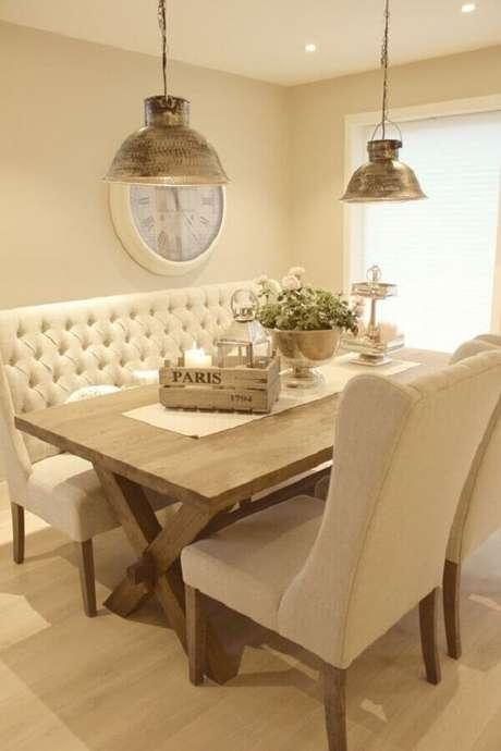 40. Decoração sala de jantar cor creme claro – Foto: Interior Design Styles