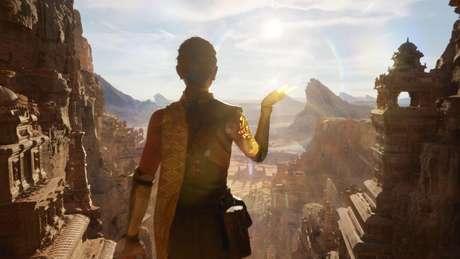 Cena da demonstração do novo Unreal Engine 5, rodando no PS5