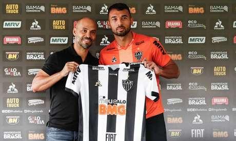 Lucas tem contrat o com o Galo até o fim de 2022. Ele foi contratado no meio de 2019-(Bruno Cantini/Atlético-MG)