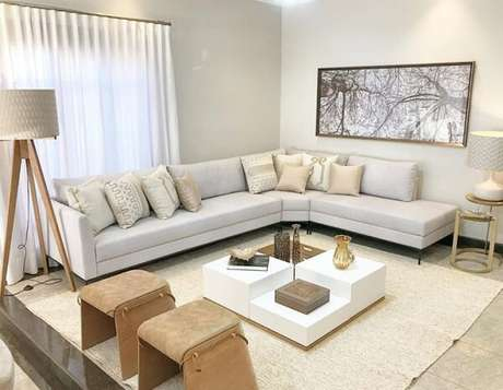 25. Alinhe seu sofá modular próximo a parede. Fonte: Fabiana Zanchetta