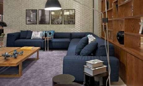 18. Este modelo de sofá modular acomoda várias pessoas. Fonte: Pinterest