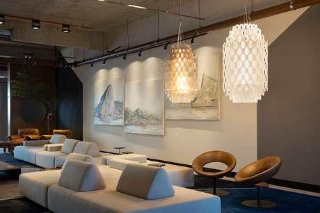 68. O sofá de módulos se destaca na decoração. Fonte: Pinterest