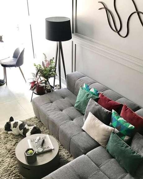 1. O sofá modular pode ser usado em posições diferentes. Fonte: Pinterest