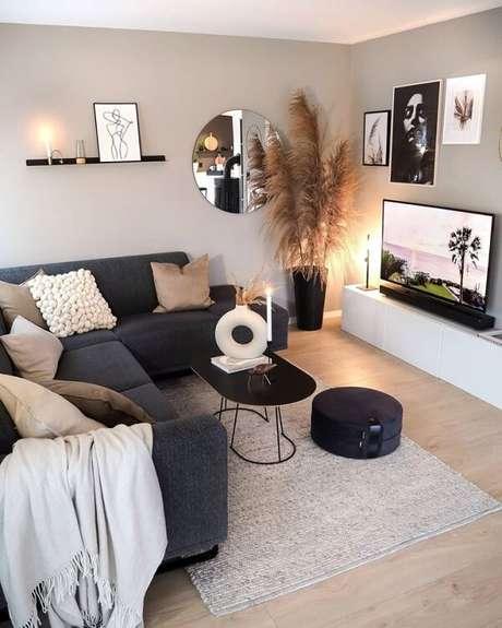 27. O sofá modular se encaixa perfeitamente nesse ambiente. Fonte: Pinterest