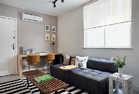 6. Sofá cama modular é multifuncional e acomoda de forma confortável as visitas. Fonte: Pinterest