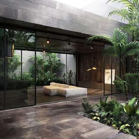 50. Sofá modular com tecido branco e quadro decorativo. Fonte: Revista Viva Decora