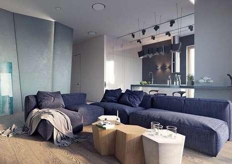 77. Sofá modular descontraído e confortável. Fonte: Pinterest