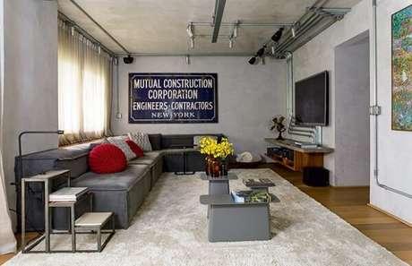 58. Sofá modular revestido com lona. Fonte: Casa e Jardim