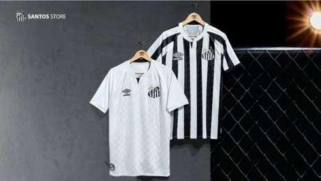 Novos uniformes do Santos