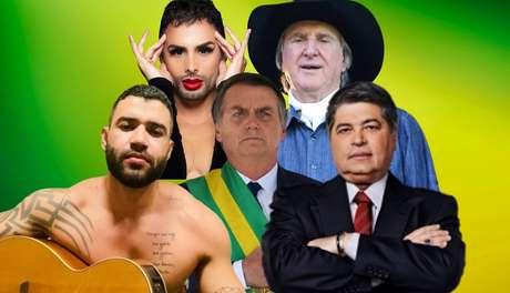 Bolsonaro entre Gusttavo Lima, Agustin Fernandez, Sérgio Reis e José Luiz Datena: defesa do presidente nas redes sociais e na mídia ...