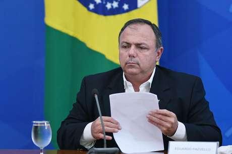 O ministro interino da Saúde, Eduardo Pazuello