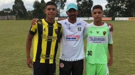Luís Henrique, Ronaldo (pai) e Pedro (Foto: Arquivo Pessoal)