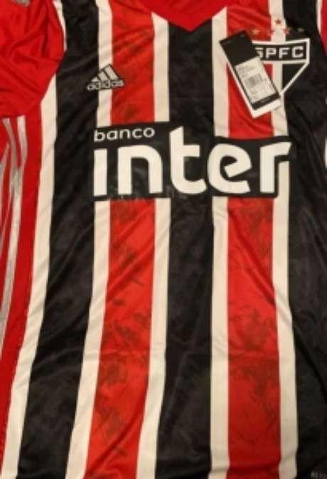 Frente da nova camisa do São Paulo (Foto:Reprodução)