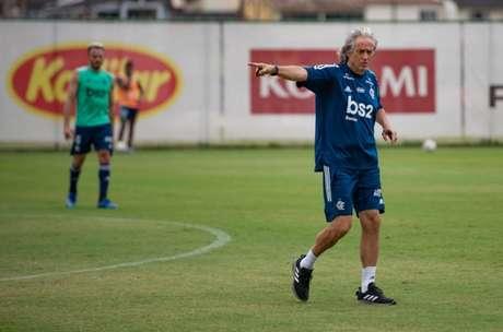 O técnico Jorge Jesus tem comparecido ao Ninho do Urubu (Foto: Alexandre Vidal/Flamengo)