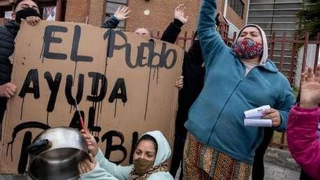 Na capital Santiago, onde houve protestos por causa da difícil situação econômica criada no país pela pandemia