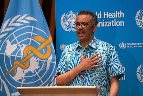 Diretor-geral da OMS, Tedros Adhanom Ghebreyesus, em Genebra 19/05/2020 Christopher Black/OMS/Divulgação via REUTERS