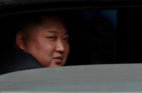 Líder da Coreia do Norte, Kim Jong Un, em estação ferroviária no Vietnã 26/02/2019 REUTERS/Athit Perawongmetha
