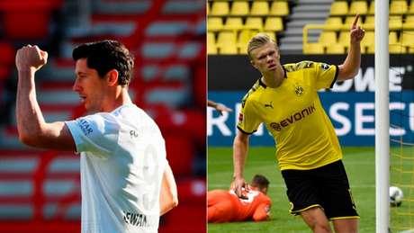 Bayern e Dortmund brigam pelo título alemão e têm jogos decisivos neste sábado (M. Meissner e H. Hanschke/AFP)
