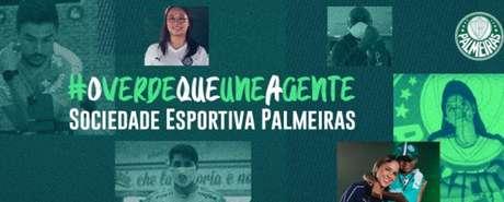 O Palmeiras divulgou campanha de solidariedade em meio à pandemia do coronavírus (Divulgação)