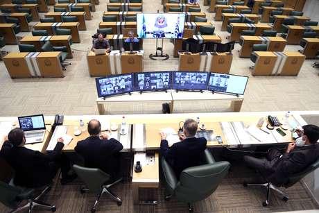 Congresso de comissões da Alesp em ambiente virtual