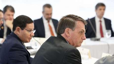 A reunião ministerial foi registrada em fotos e vídeos pela Presidência da República