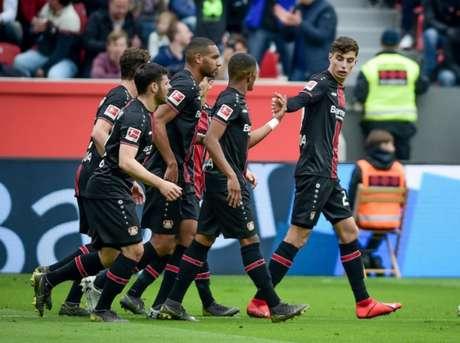 Kai Havertz marcou dois gol na vitória doayer Leverkusen sobre o Borussia Mönchengladbach por 3 a 1 (Foto: Reprodução)