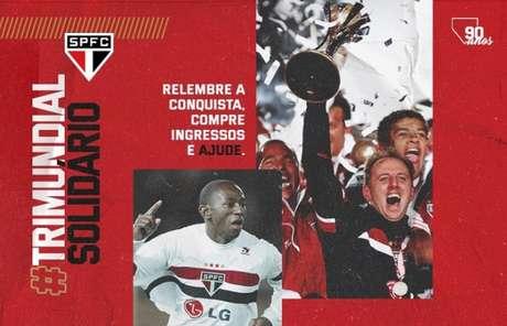 São Paulo vende ingressos solidários e simbólicos para a final do Mundial de 2005 (Foto: Divulgação)