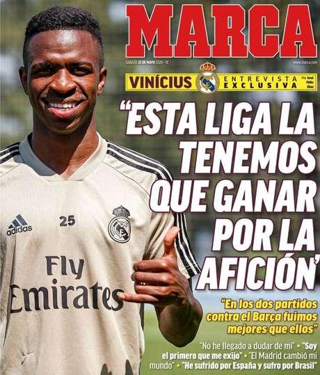 Vinicius Junior quer ganhar título para a torcida (Foto: Reprodução)
