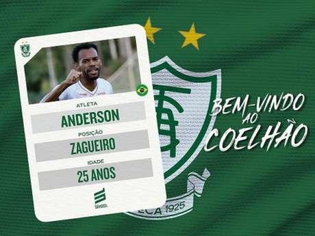 Anderson vai se juntar ao elenco para a disputa final do Mineiro e Série B 2020-(Divulgação/América-MG)