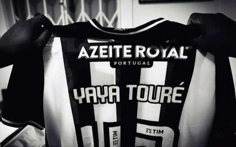 Vídeo do anúncio de Yaya Touré no Botafogo chegou a vazar na internet (Foto: Reprodução)