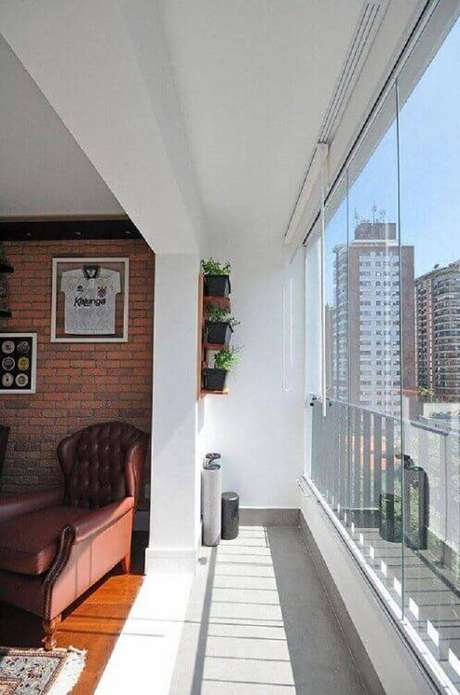 22. Os jardins pequenos são muito utilizados em varandas de apartamentos